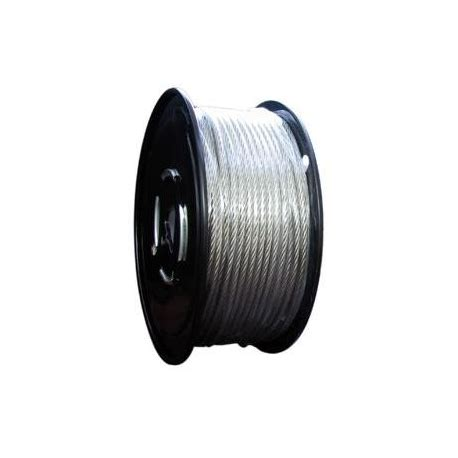 1/4in. galvanized aircraft cable 7 x 7 250ft/reel
