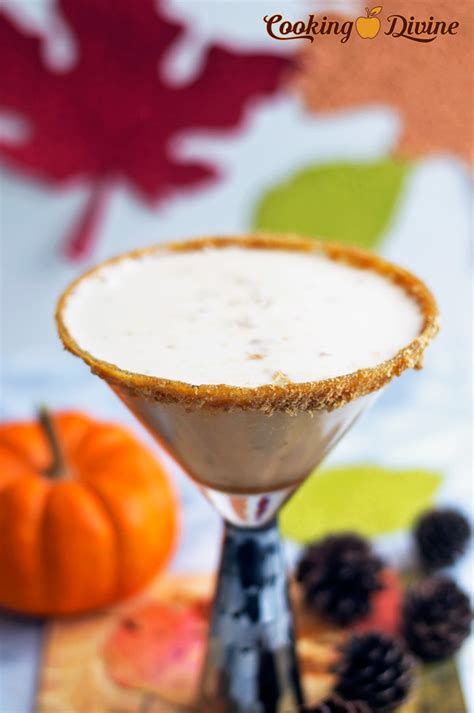 pumpkin martini recipe autumn pumpkin spiced martinis cookingdivine com