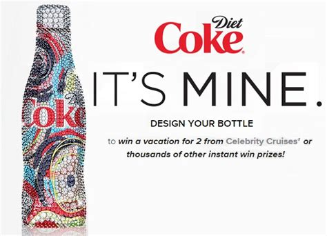 Diet Coke Sweepstakes - diet coke it s mine bottle designer promotion sweepstakesbible