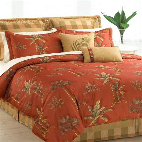hallmart collectibles spiced palm queen 8 piece comforter