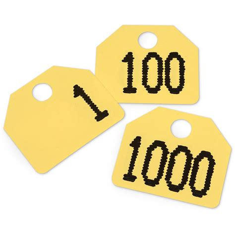 Sle Tags For Giveaways - yellow plastic auction sale tags numbered
