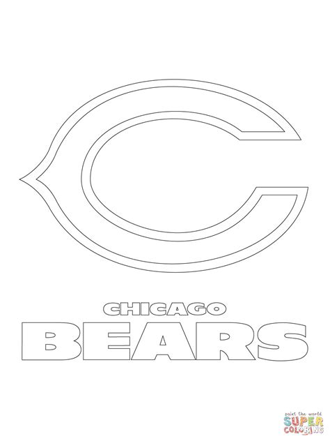 chicago bears logo coloring page free printable coloring