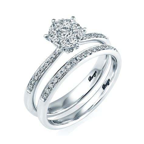 berry s 18ct white gold bridal set engagement and