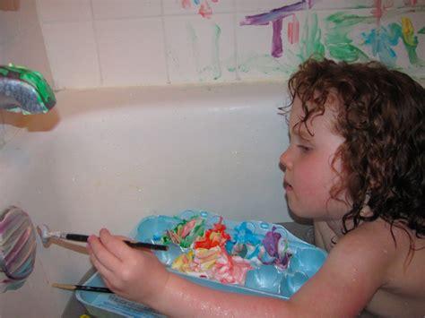 bathtub finger paint the chocolate muffin tree super easy shaving cream bathtub paint