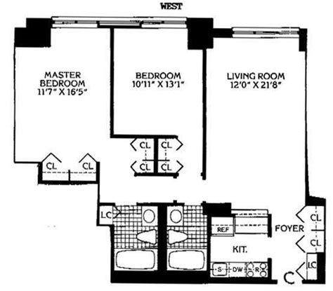 Time Warner Center Floor Plan by 124 West 60th Street Rentals South Park Tower