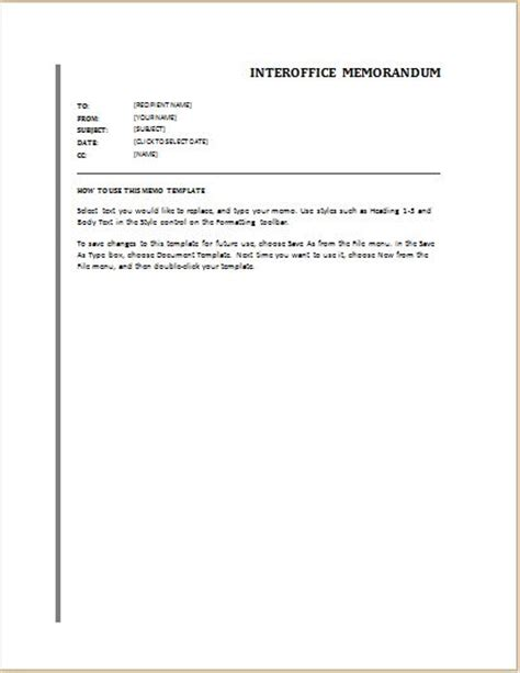 Memo List Template 24 Free Editable Memo Templates For Ms Word Word Excel Templates