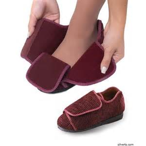 Bedroom Slippers For Diabetics Silverts 101000305 Womens Wide Width Adaptive