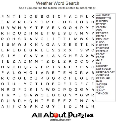 new year word bank weather word search