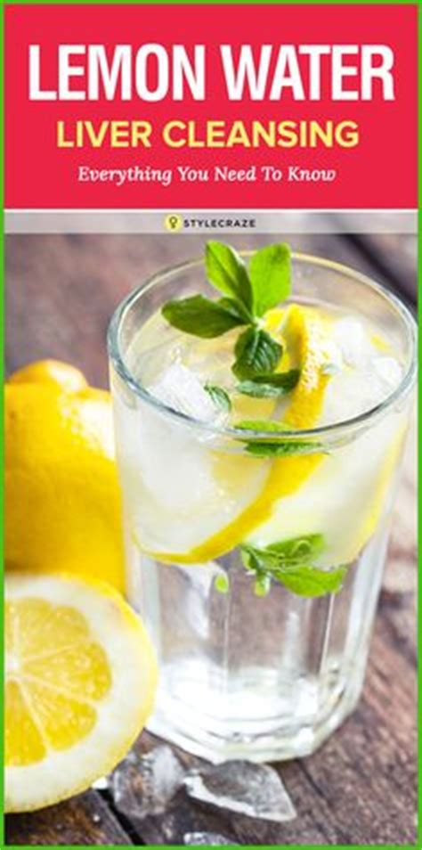 How To Detox The Liver With Lemon by 1000 Ideas About Lemon Water On Detox Lemon