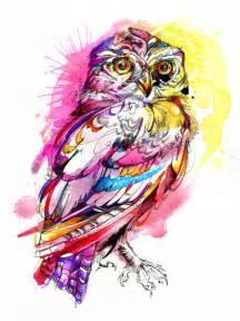 Owl Rugs For Kids Neon Northern Pygmy Owl Art Print By Abby Diamond Society6