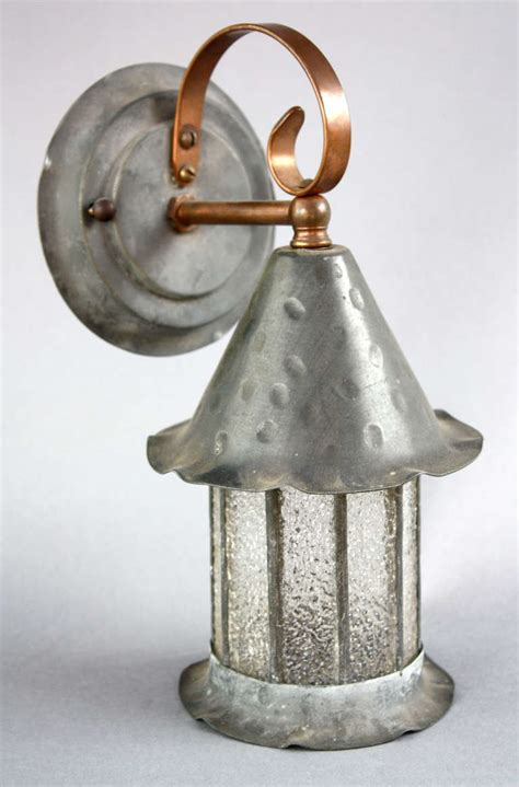 Copper Sconce 1920s Hammered Bronze And Copper Tudor Sconce At 1stdibs