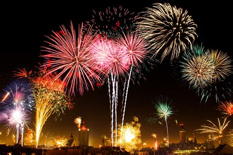 when is new year free stock photo of colorful fireworks on new year s day