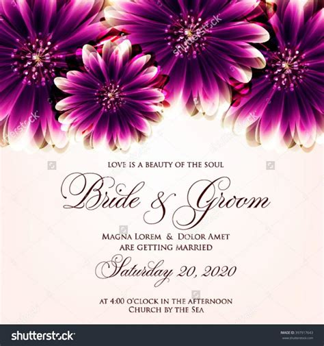 Wedding Anniversary Card Background by Wedding Card Or Invitation With Abstract Floral Background