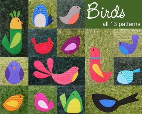 Bird Quilt Pattern by Chirp A Bird Quilt Pattern Workshop Shiny Happy World