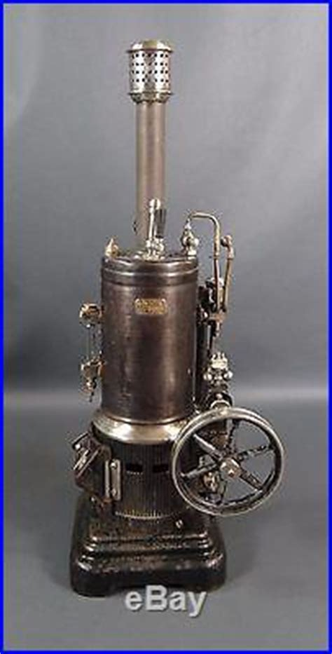 antique german marklin vertical  steam engine model   tin toy large
