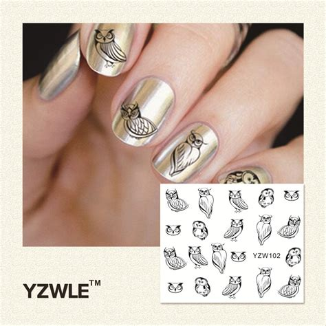 temporary tattoo paper nail art yzwle 1pcs nail art water sticker nails beauty wraps foil