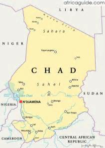 Chad Africa Map by Gallery For Gt Chad Map Africa