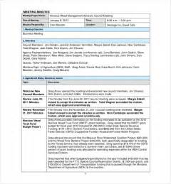 How To Type Minutes From A Meeting Template by Doc 555717 Sle Of Meeting Minutes Template Meeting