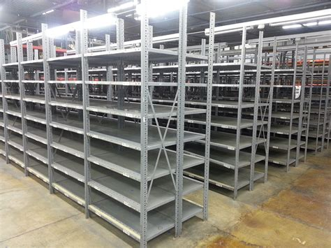 New Used Industrial Steel Shelving Republic Clip Style Used Steel Shelving
