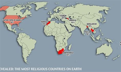 most and least religious cities the most and least religious countries on earth revealed
