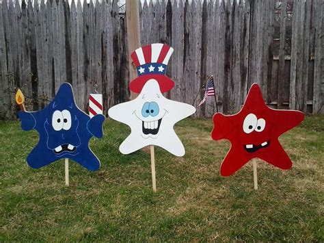 wood patterns free yard decorations 4th of july decoration patriotic decor usa decor stars red