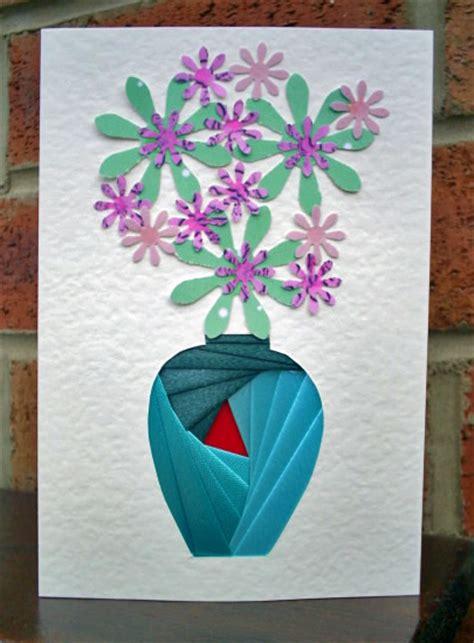 iris card patterns vase iris folding pattern cup57770 601
