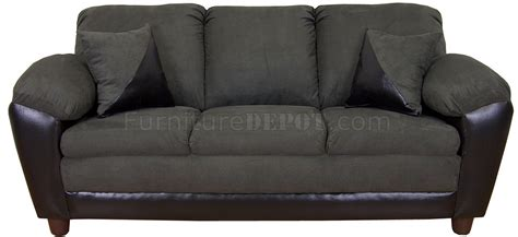 sage loveseat sage fabric and black bicast modern sofa loveseat w options