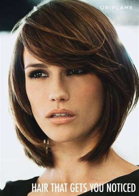 bob with heavy fringe heavy side bangs layered bob hair did pinterest