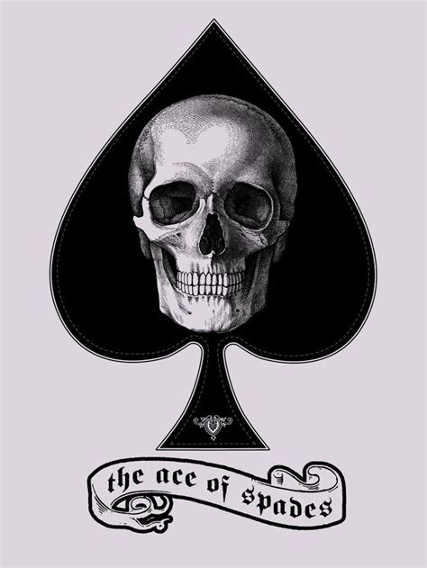 skull spade tattoo designs best 25 ace of spades ideas on ace of