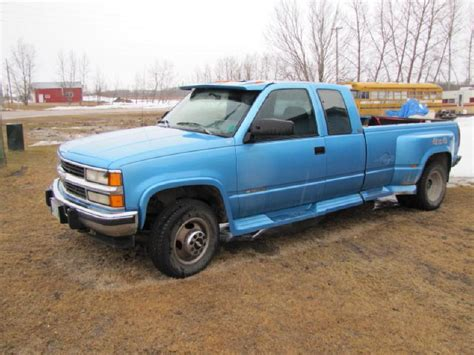 1994 gmc trucks 1994 gmc 1 ton dually truck ext cab box fifth