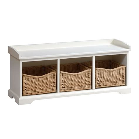 tetbury hallway bench tetbury ivory hall bench with 3 shoe baskets e508 with free delivery the cotswold