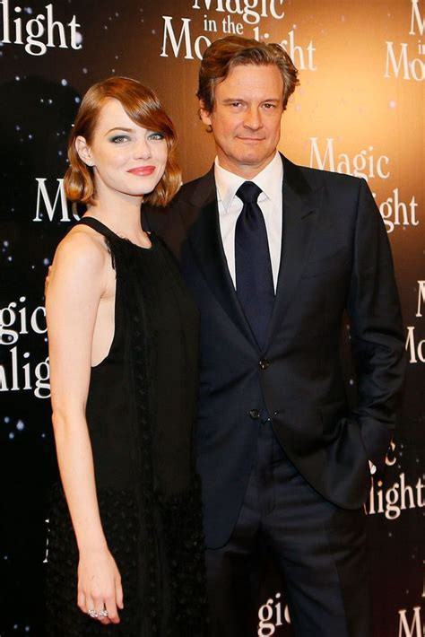 emma stone colin firth emma stone looks smokin hot on the red carpet at the