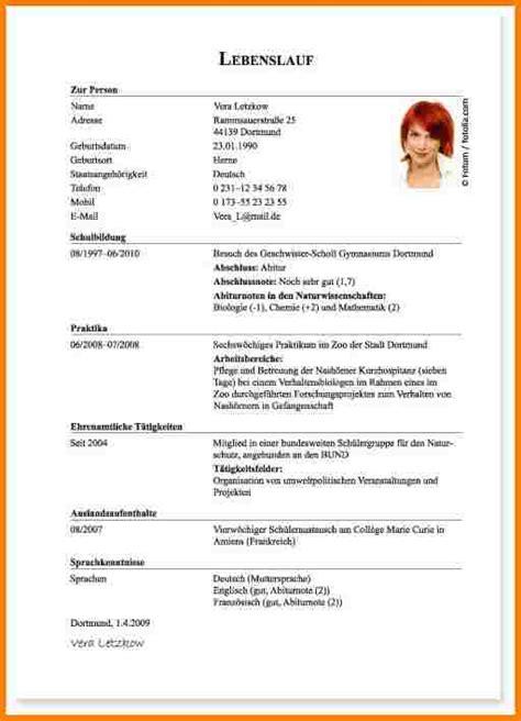 Lebenslauf Muster Bewerbung Ausbildung 12 Lebenslauf Bewerbung Ausbildung Resignation Format