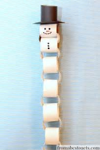 Snowman Paper Chain Template by Snowman Paper Chain Myideasbedroom