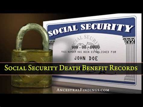 Records Social Security Index Af 030 Social Security Benefit Records