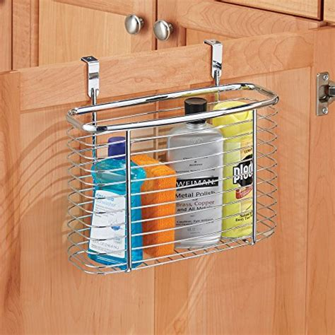 New Kitchen Office Cabinet Storage Organiser Basket Cabinet Door Storage Basket