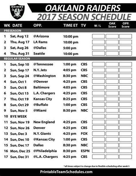 printable schedule of nfl games 99 best printable nfl schedules images on pinterest