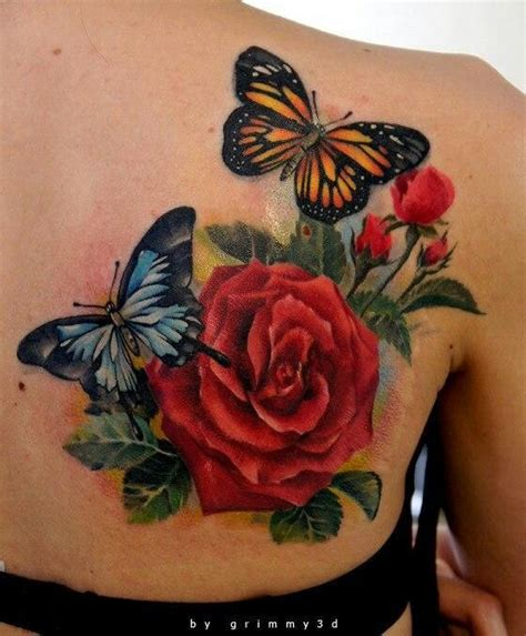 rose and butterfly tattoo meaning tatoo meaning