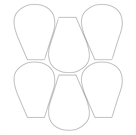 paper flower petal templates flower petal template 27 free word pdf documents