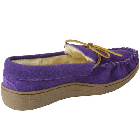 three house shoes alpine swiss sabine womens suede shearling moccasin