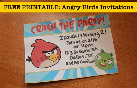 angry birds birthday invitation template free your free angry birds invitations