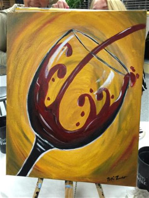 paint with a twist wine glass work in progress picture of painting with a twist