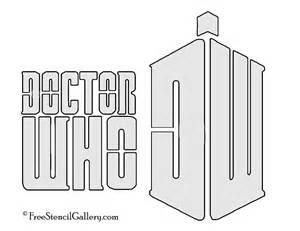 doctor who logo stencil free stencil gallery
