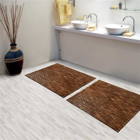 floor mats for bathroom bathroom exciting bathroom decor ideas with cozy teak bath mat idefendem com