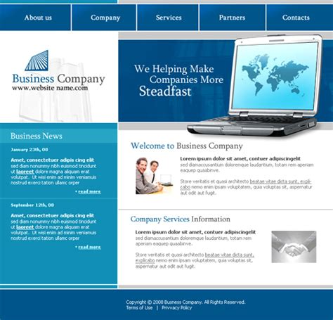 Modern Computers Web Template 3208 Computers Technology Website Templates Dreamtemplate Information Web Template