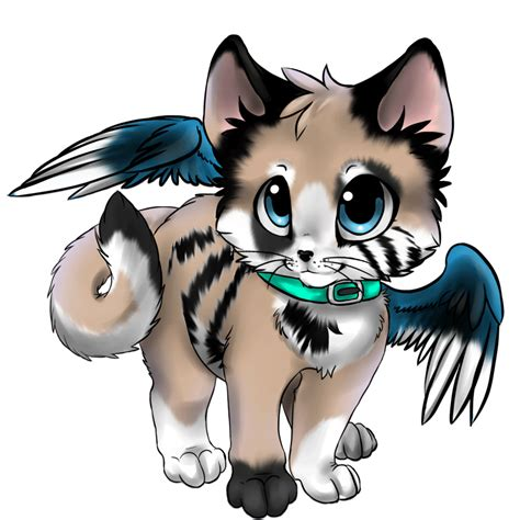 cute anime cat with wings drawings little kittenz and the adventure of the sun and st