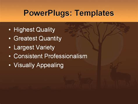 africa powerpoint template animals of africa illustration vector format powerpoint