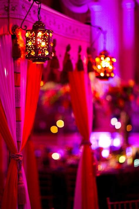 indian wedding drapes dim lanterns and bright drapes indian wedding decor idea