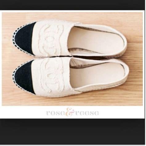 shoes chanel canvas espadrilles chanel white cc