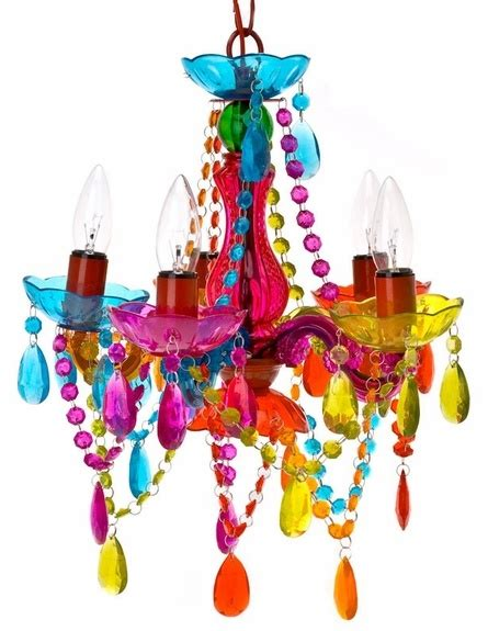 Multi Colored Chandelier Lighting Multi Colored Chandelier Decor 8